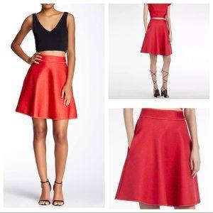 Cynthia Rowley Red Purple A-Line Bonded Skirt M 8